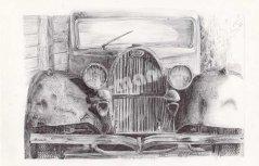 zeichnen mit Kugelschreiber, Kugelschreiberzeichnungen, Auto Zeichnungen mit Kuli
